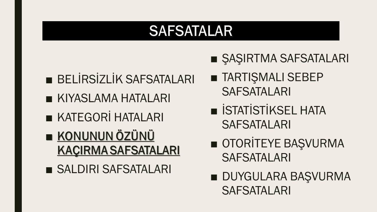 SAFSATALAR ■«Sen de» Safsatası Sinan: Hayvanları beslenme ve giyim amacıyla öldürmek yanlıştır.
