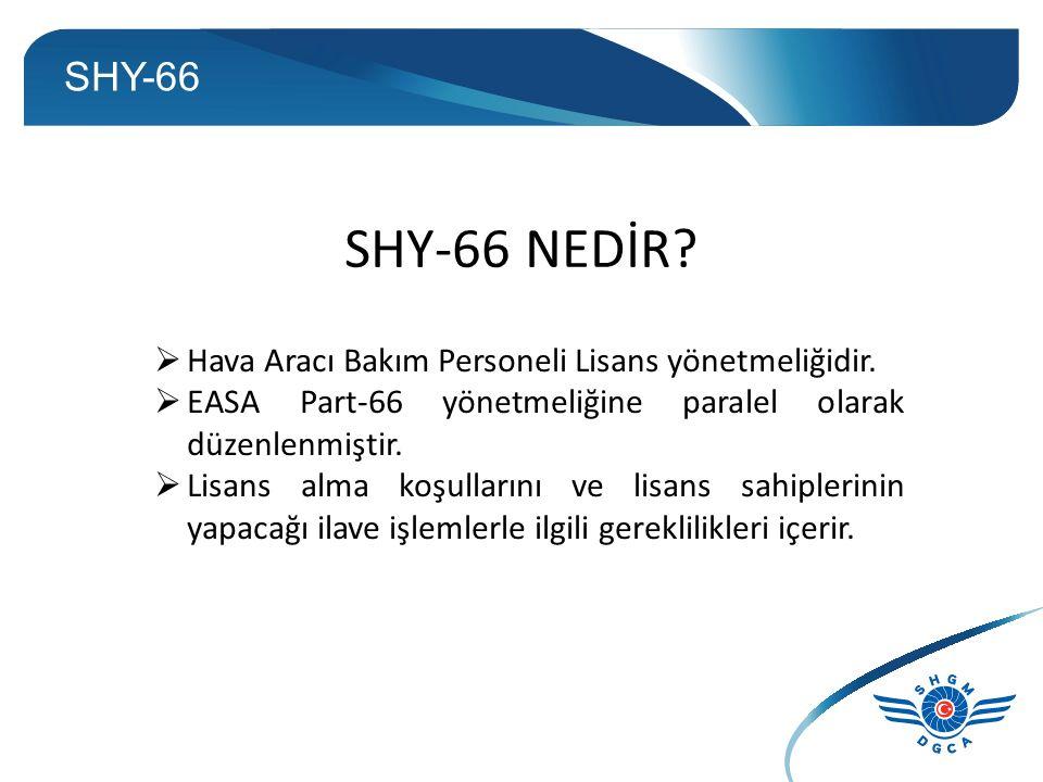 SHY-66 Lisansı