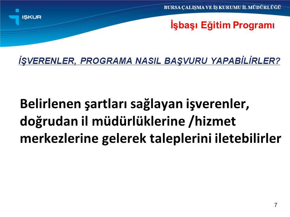 İŞVERENLER, PROGRAMA NASIL BAŞVURU YAPABİLİRLER.