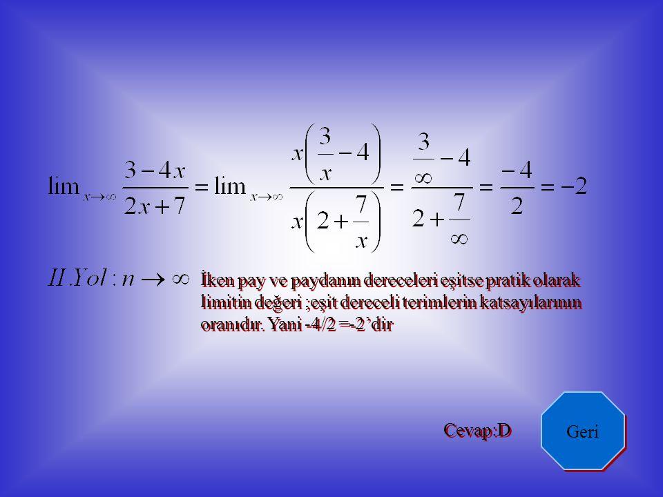 1 1 y y x x fonksiyonunun grafiği yanda görülmektedir.