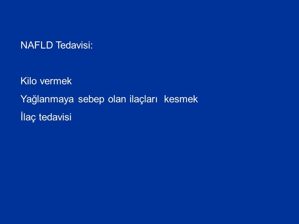 NAFLD Tedavisi: Kilo vermek Yağlanmaya sebep olan ilaçları kesmek İlaç tedavisi