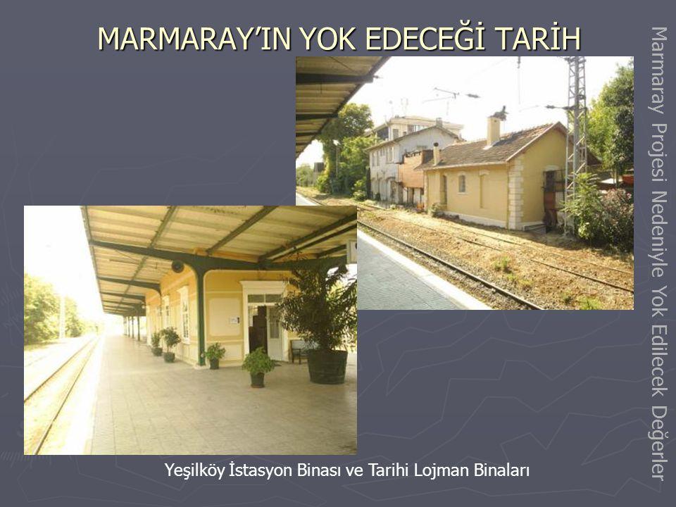 MARMARAY'IN YOK EDECEĞİ TARİH Tarihi Ayamama Köprüsü Marmaray Projesi Nedeniyle Yok Edilecek Değerler