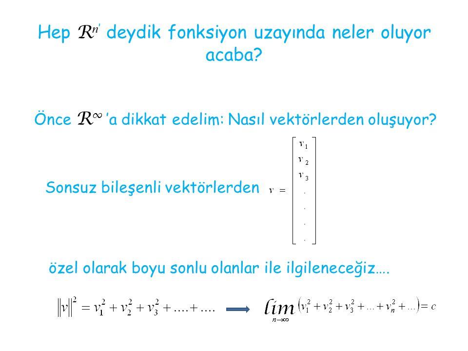 Özellikle de ilgilendiğimiz uzayın elemanları [a, b] aralığında tanımlı fonksiyonlar olsun….
