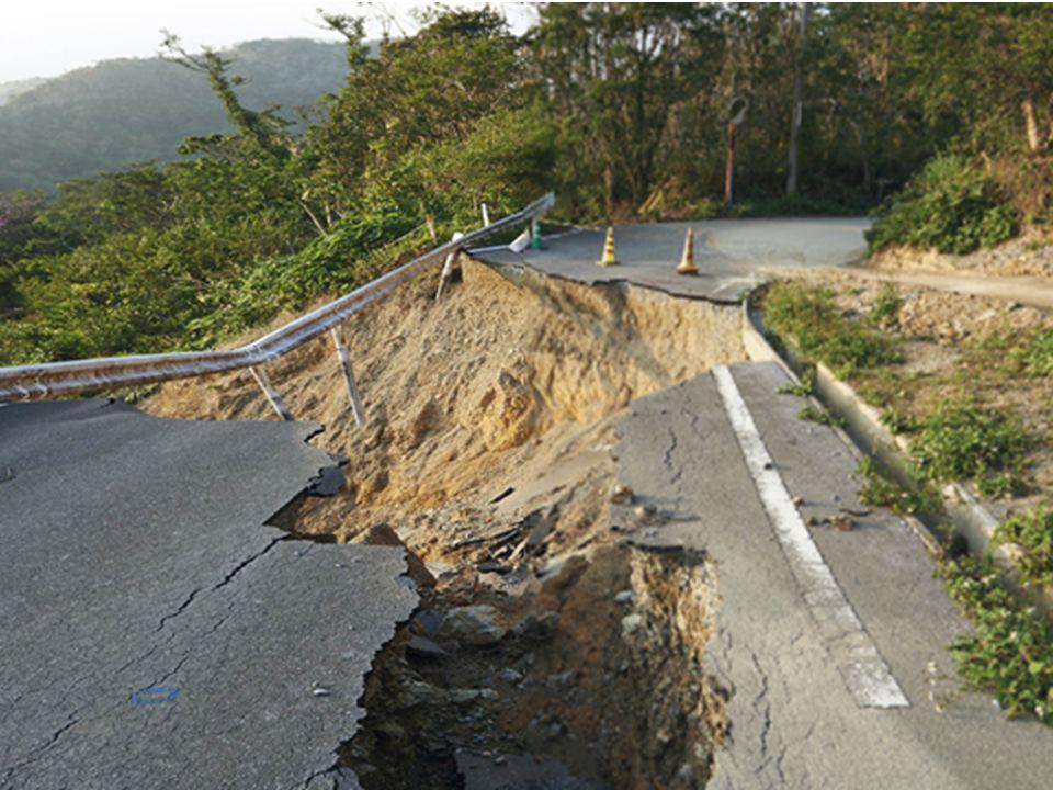 Erozyon ve heyelan Eğimli arazilerde şiddetli yağmur yağdığında biriken su aşağıya doğru akar.