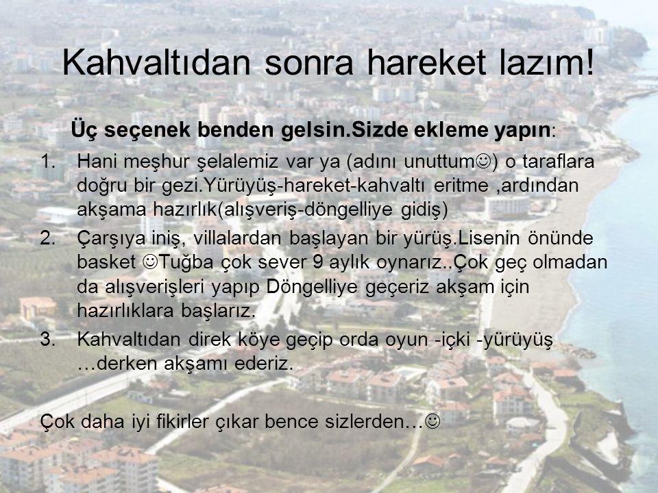 Sariyayla Şelalesi 9 Aylık Alışveriş Erdal Bakkal'dan yapılır Yürüyüş