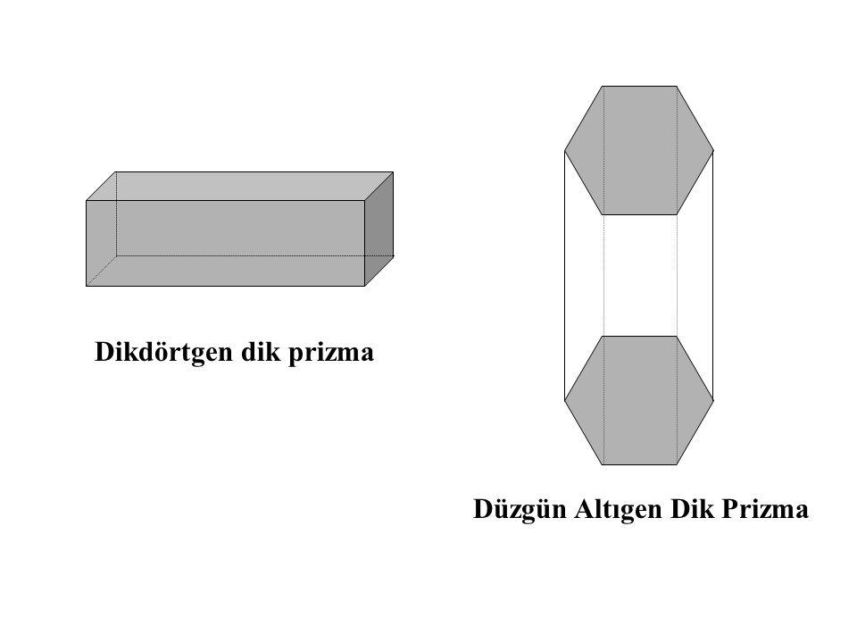 Dikdörtgen dik prizma Düzgün Altıgen Dik Prizma