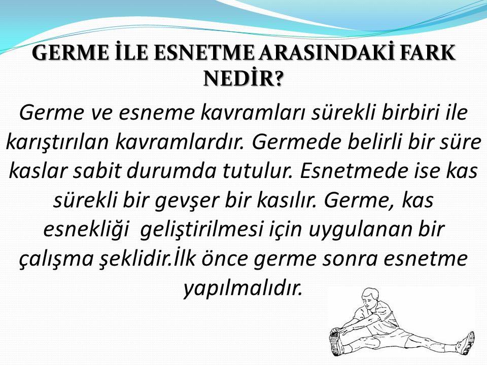 GERME İLE ESNETME ARASINDAKİ FARK NEDİR.
