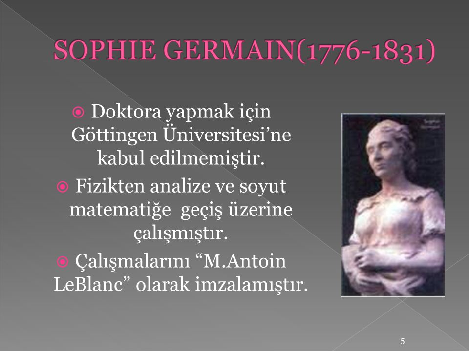  Doktora yapmak için Göttingen Üniversitesi'ne kabul edilmemiştir.  Fizikten analize ve soyut matematiğe geçiş üzerine çalışmıştır.  Çalışmalarını