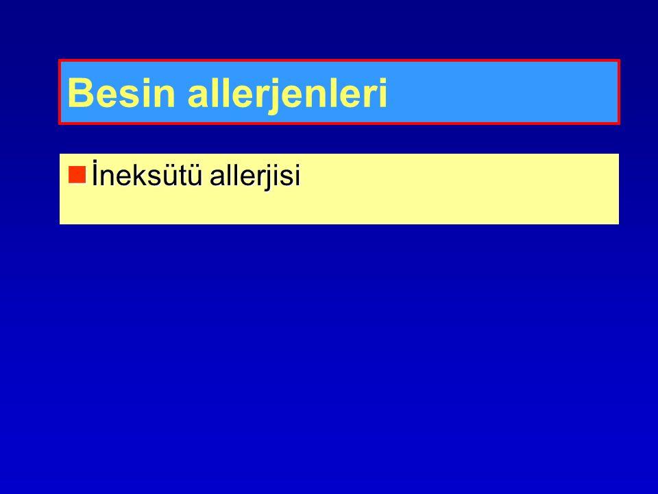 Besin allerjenleri İneksütü allerjisi İneksütü allerjisi