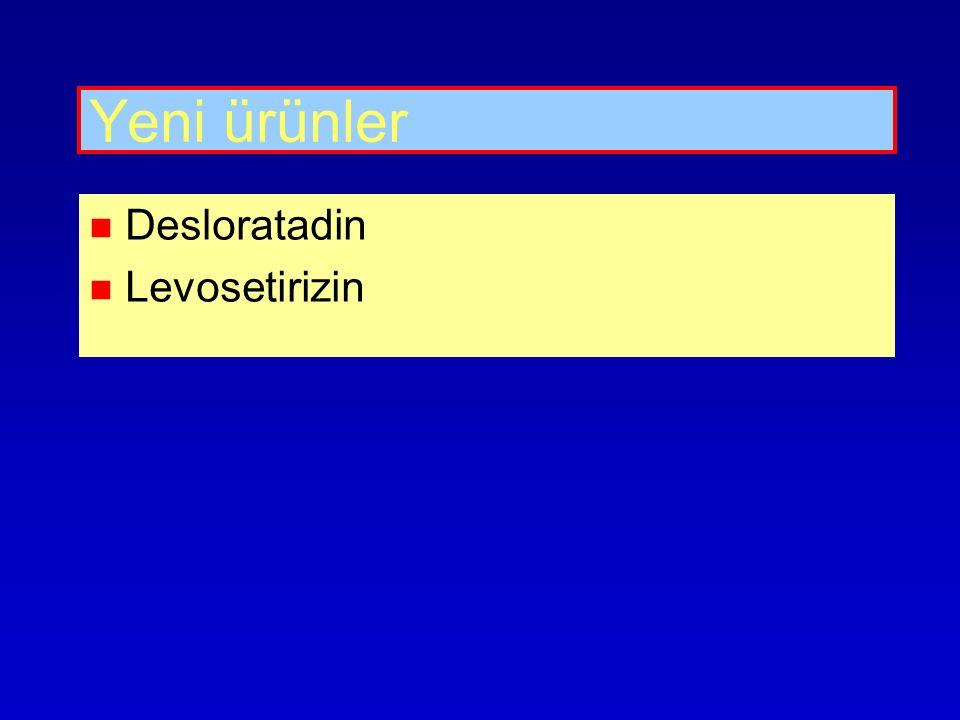 Yeni ürünler Desloratadin Levosetirizin