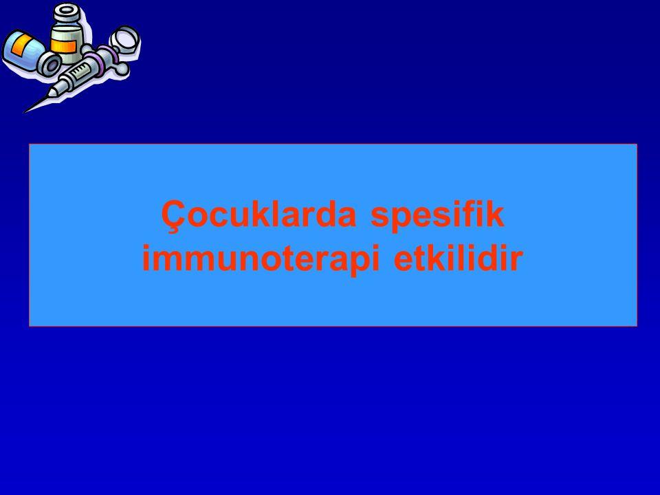 Çocuklarda spesifik immunoterapi etkilidir