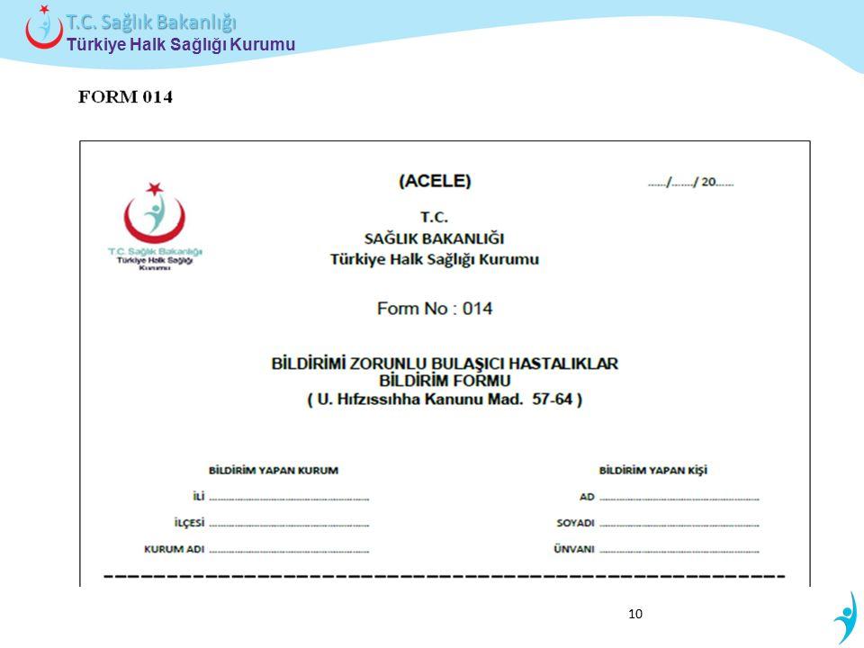 Türkiye Halk Sağlığı Kurumu T.C. Sağlık Bakanlığı 10