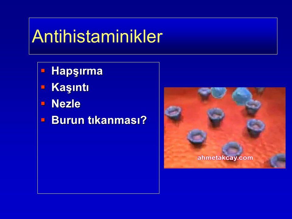 Antihistaminikler  Hapşırma  Kaşıntı  Nezle  Burun tıkanması?