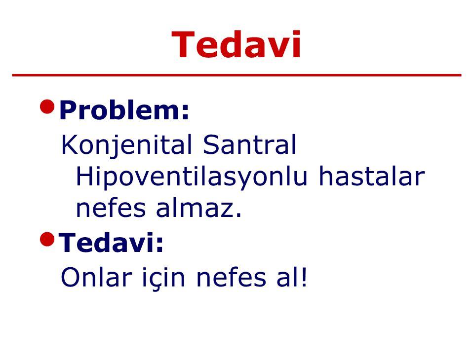 Tedavi Problem: Konjenital Santral Hipoventilasyonlu hastalar nefes almaz.