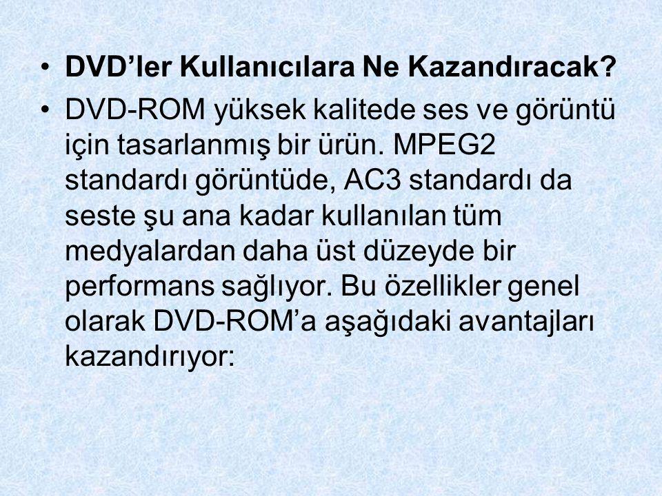 DVD'ler Kullanıcılara Ne Kazandıracak.
