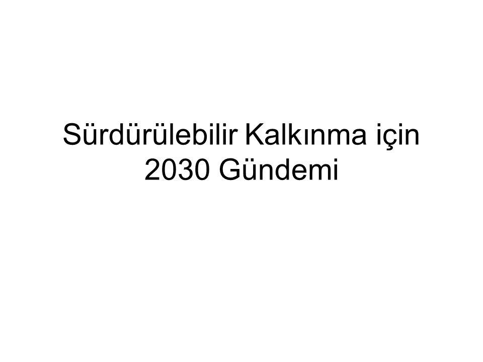 Sürdürülebilir Kalkınma için 2030 Gündemi