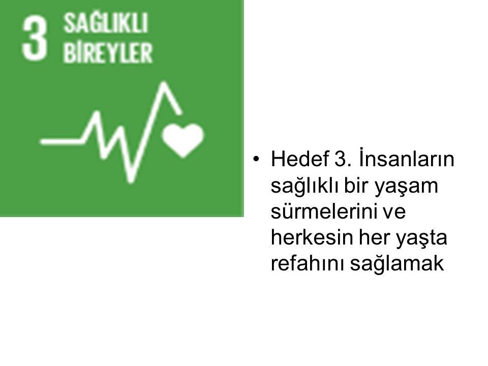Hedef 3. İnsanların sağlıklı bir yaşam sürmelerini ve herkesin her yaşta refahını sağlamak
