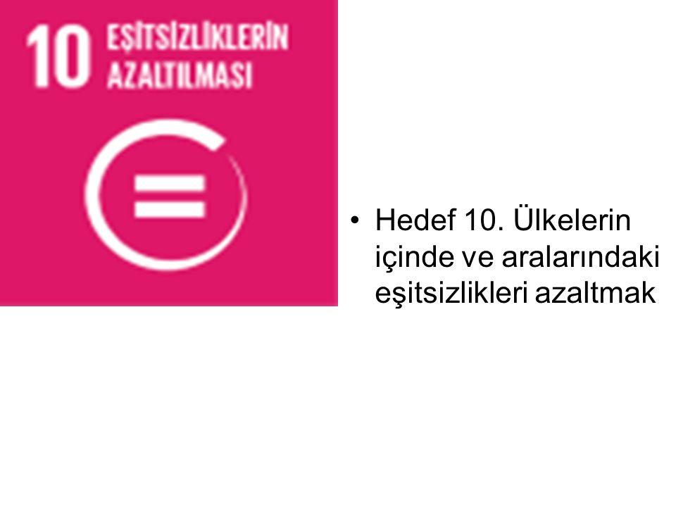 Hedef 10. Ülkelerin içinde ve aralarındaki eşitsizlikleri azaltmak