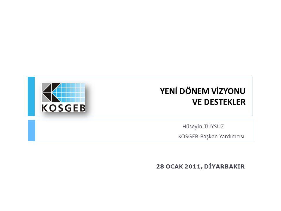 Kapsam  Türkiye'de KOBİ'ler Hakkında Genel Bilgi  KOSGEB ve KOBİ'lere Sağladığı Mevcut Destekler  Yeni KOSGEB Destek Sistemi ve Destek Modelleri  Yeni KOSGEB Destek Programları