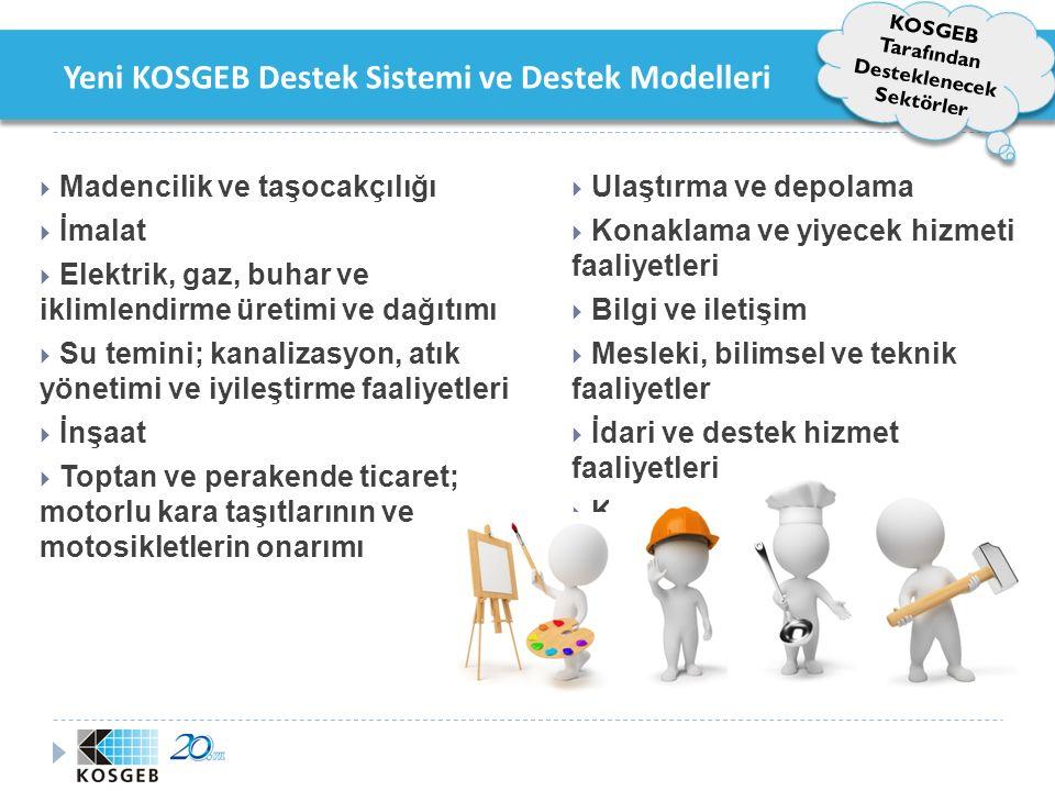 Yeni KOSGEB Destek Sistemi ve Destek Modelleri KOSGEB Kanunu Değişikliği ile KOGEB Hedef Kitlesi Genişledi.