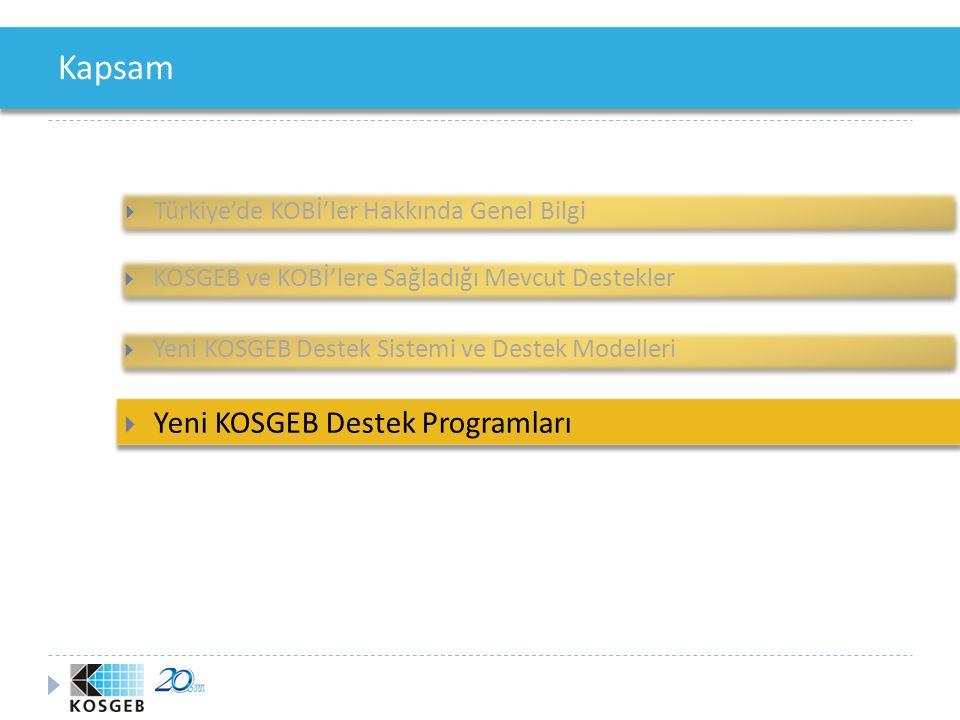 Yeni KOSGEB Destek Programları 1. KOB İ Proje Destek Programı