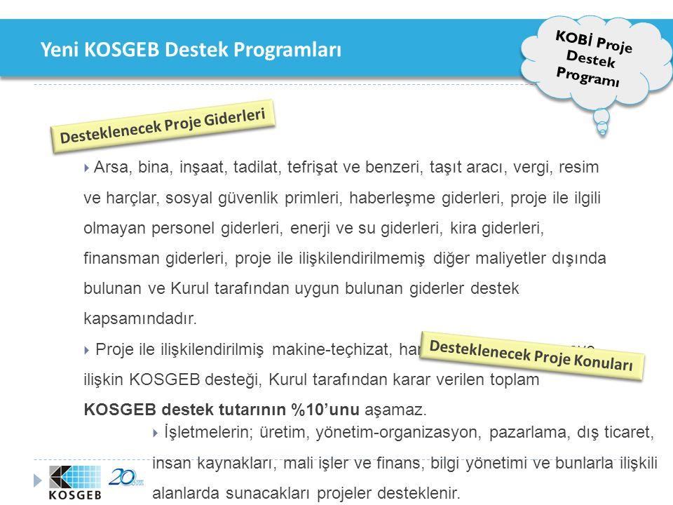 Yeni KOSGEB Destek Programları 2. Tematik Proje Destek Programi 2. Tematik Proje Destek Programi