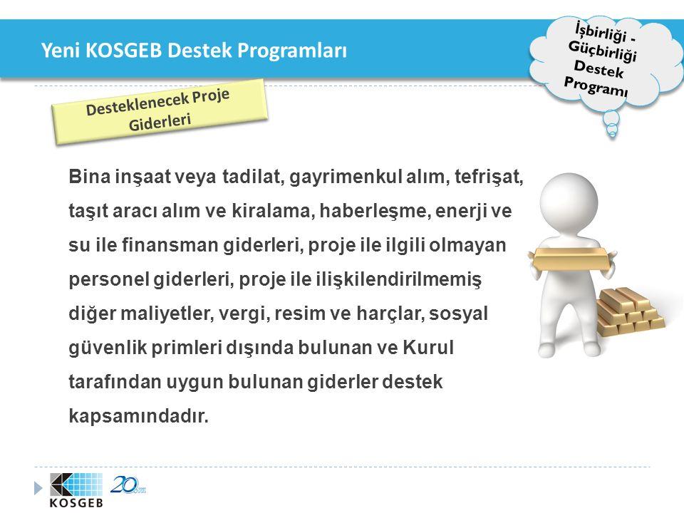 Yeni KOSGEB Destek Programları 4.AR-GE, İ novasyon ve Endüstriyel Uygulama Destek Programı 4.