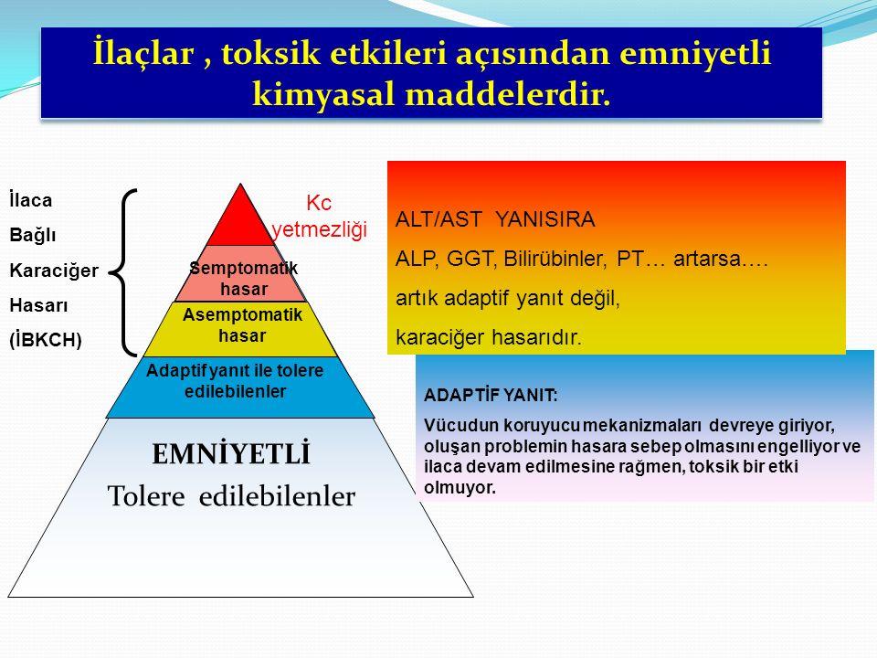 Karaciğer hasarına sebep olan etkenler arasında ilaçlar 4.
