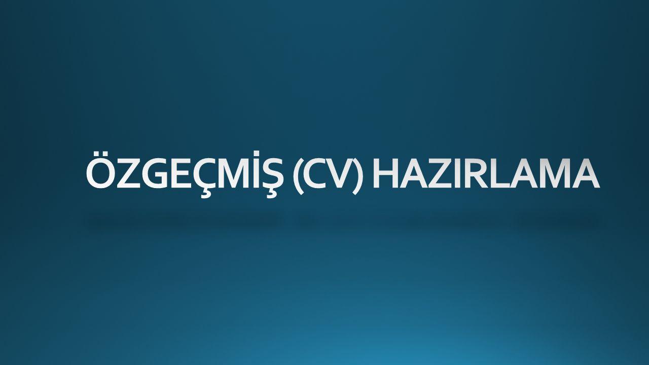 ÖN ELEMEYİ GECEN CV'NİN 2.