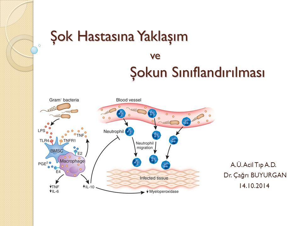 YAKLAŞIM – Tedavi Hedefleri İ drar çıkışı: > 0.5 ml/kg CVP : 8-12 mmHg OAB : 65-90 mmHg Santral venöz oksijen saturasyonu >% 70 Kalp hızı 60-100 /dk Laktat : < 2 mmol/L