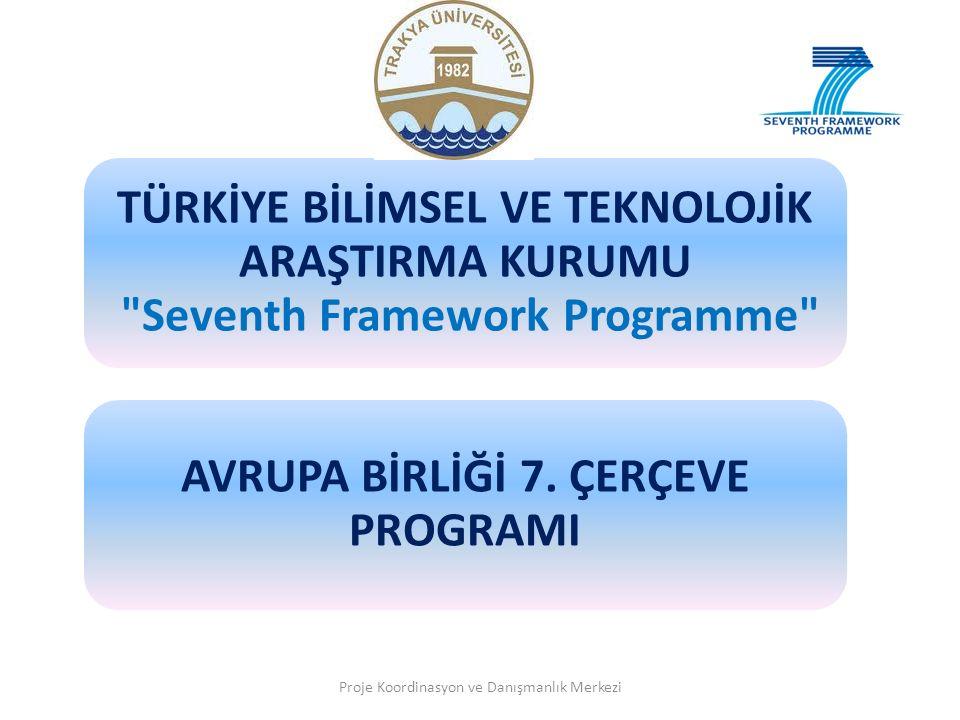 TÜRKİYE BİLİMSEL VE TEKNOLOJİK ARAŞTIRMA KURUMU Seventh Framework Programme AVRUPA BİRLİĞİ 7.