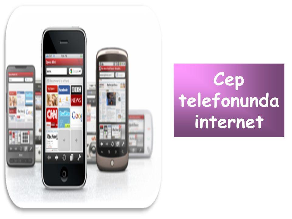 Cep telefonunda internet