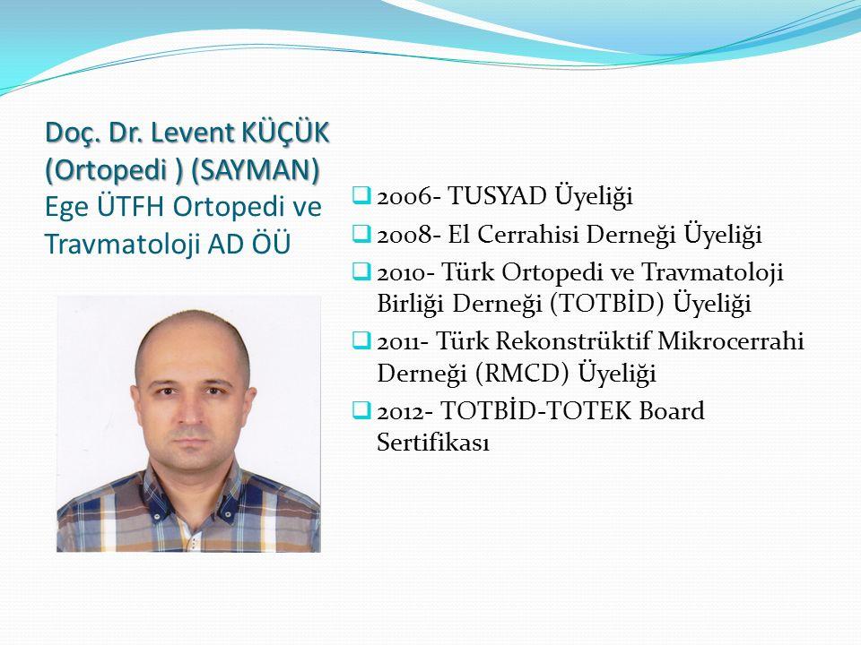 Prof.Dr. Gürsel ÇOK (Göğüs) (Genel Sekreter) Prof.