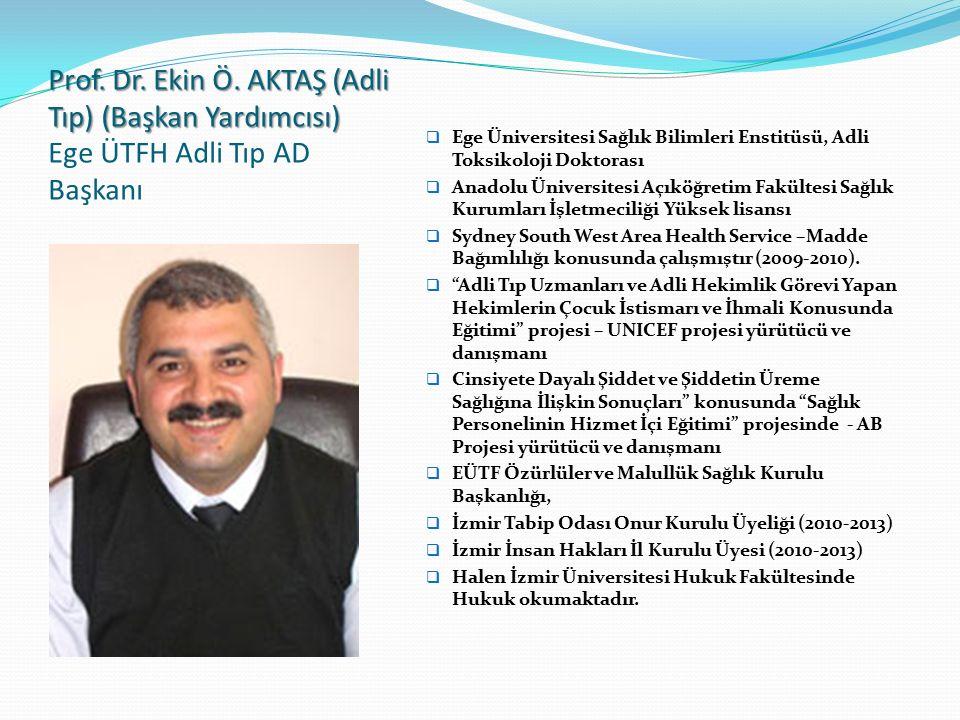 Prof. Dr. Selahattin KIYAN (Acil Tıp) (BAŞKAN) Prof. Dr. Selahattin KIYAN (Acil Tıp) (BAŞKAN) - TATD, ATUDER YK eski üyesi - ATOK kurucusu ve eski ATO