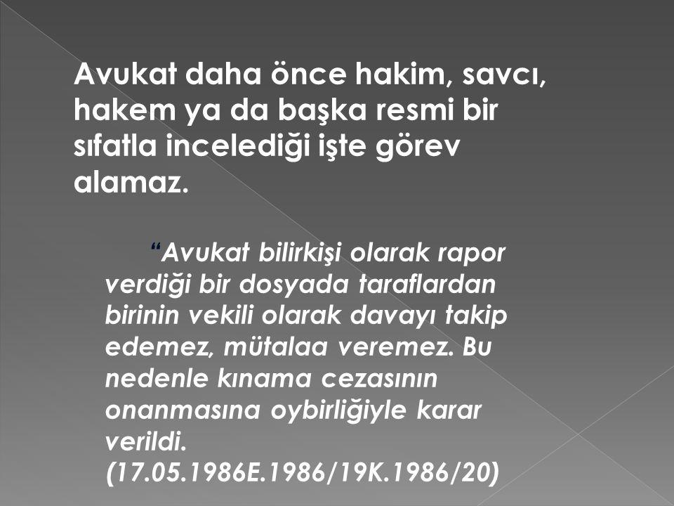 3) Avukat – Baro İlişkisi AK m.76'da baro şöyle tanımlanmaktadır: Barolar; avukatlık mesleğini geliştirmek, meslek mensuplarının birbirleri ve iş sahipleri ile olan ilişkilerinde dürüstlüğü ve güveni sağlamak; meslek düzenini, ahlâkını, saygınlığını, hukukun üstünlüğünü, insan haklarını savunmak ve korumak, avukatların ortak ihtiyaçlarını karşılamak amacıyla tüm çalışmaları yürüten, tüzel kişiliği bulunan, çalışmalarını demokratik ilkelere göre sürdüren kamu kurumu niteliğinde meslek kuruluşlarıdır. Kamu kurumu niteliğindeki meslek kuruluşları Anayasa'nın 135.