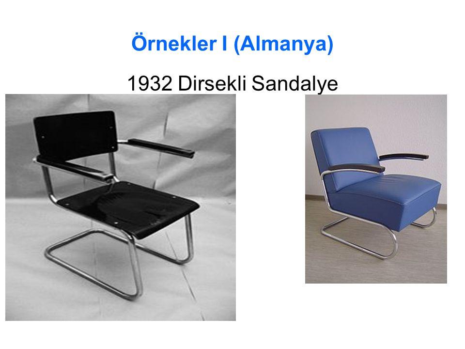 Örnekler I (Almanya) 1932 Dirsekli Sandalye