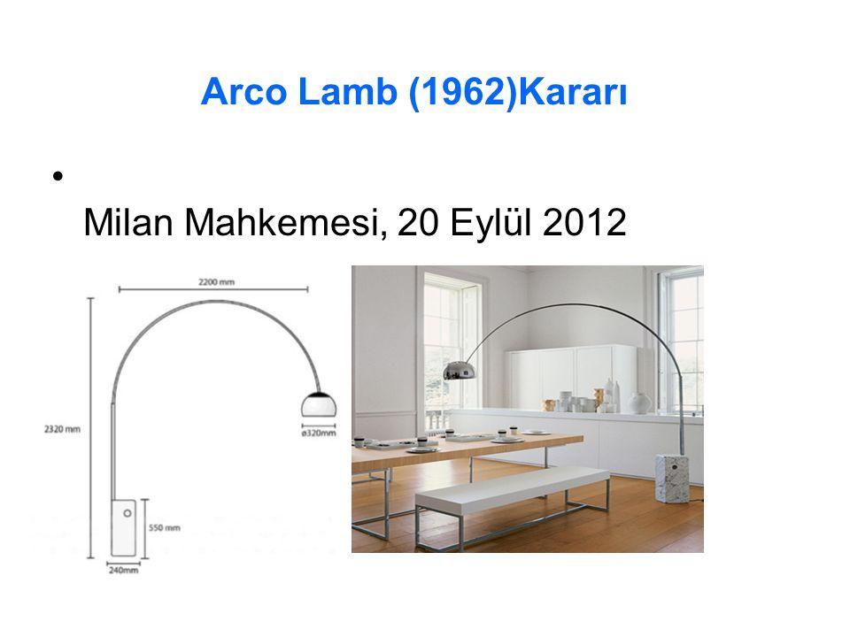 Arco Lamb (1962)Kararı Milan Mahkemesi, 20 Eylül 2012