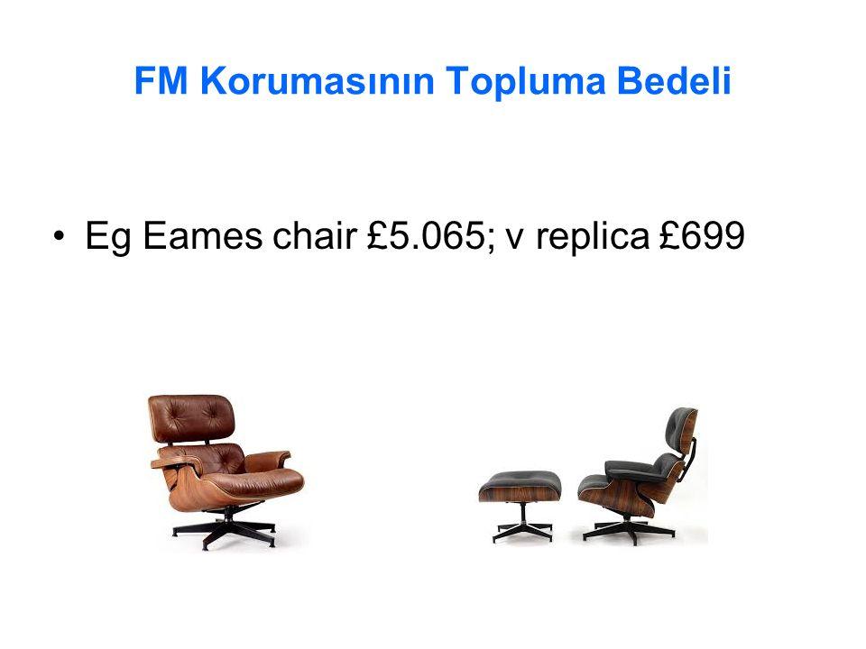FM Korumasının Topluma Bedeli Eg Eames chair £5.065; v replica £699