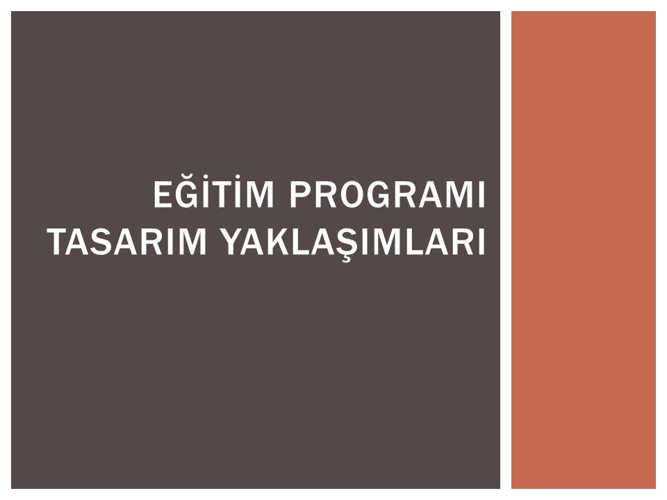 Tasarım:  Bir programın hangi öğelerden oluşacağının ortaya çıkarılması sürecidir.