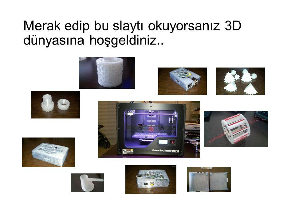 Merak edip bu slaytı okuyorsanız 3D dünyasına hoşgeldiniz..