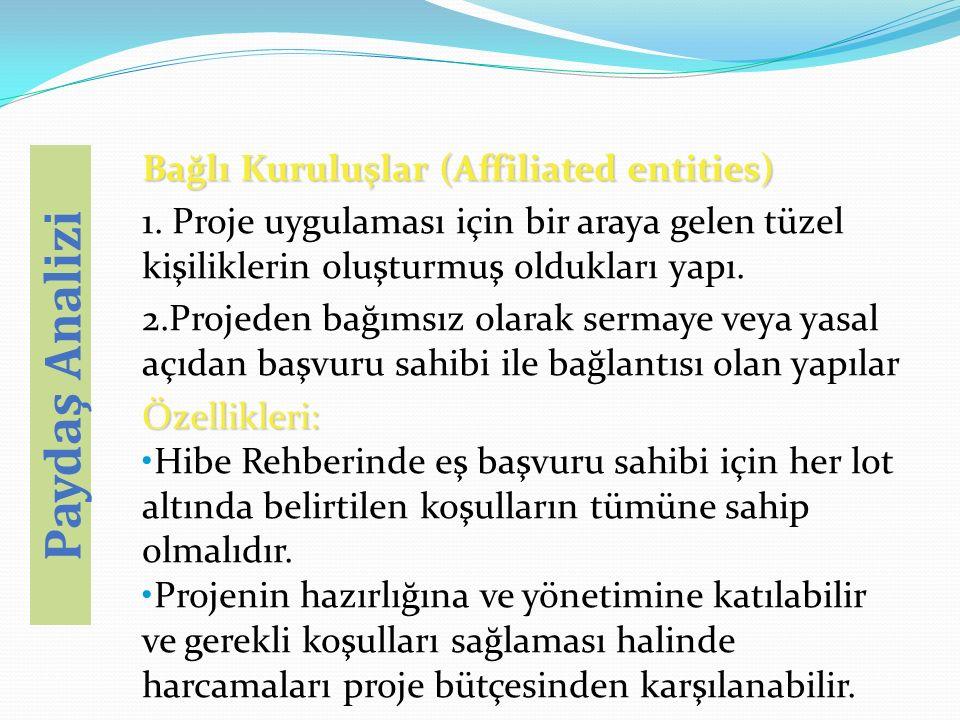 Bağlı Kuruluşlar (Affiliated entities) 1.