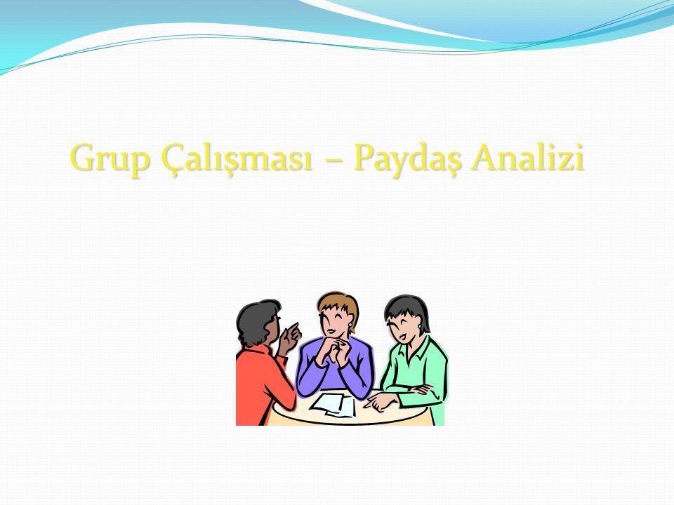Grup Çalışması – Paydaş Analizi
