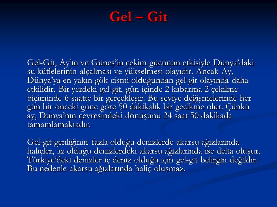 Gel – Git Gel-Git, Ay'ın ve Güneş'in çekim gücünün etkisiyle Dünya'daki su kütlelerinin alçalması ve yükselmesi olayıdır.