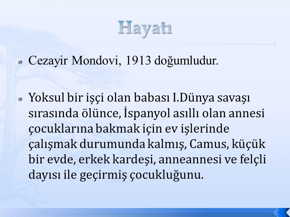  Cezayir Mondovi, 1913 doğumludur.
