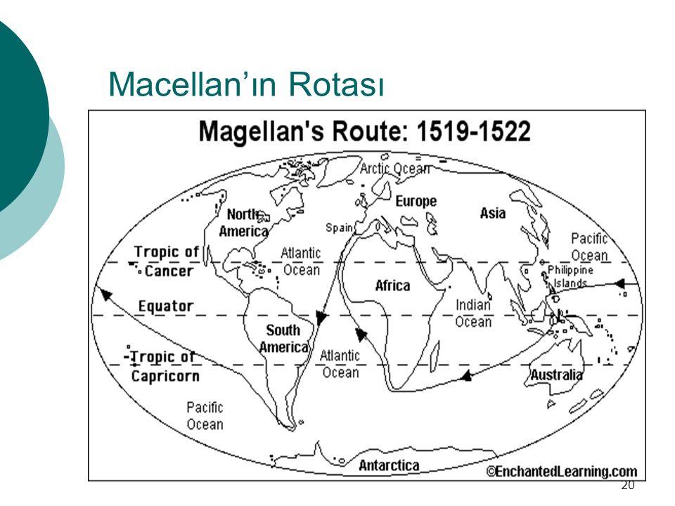 20 Macellan'ın Rotası