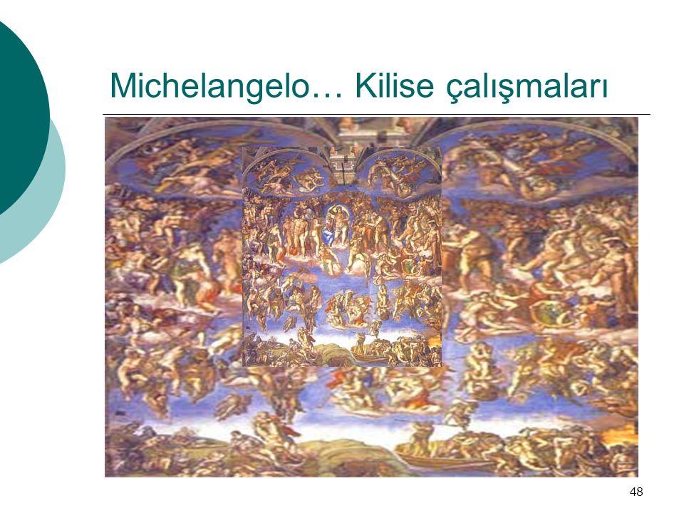 48 Michelangelo… Kilise çalışmaları