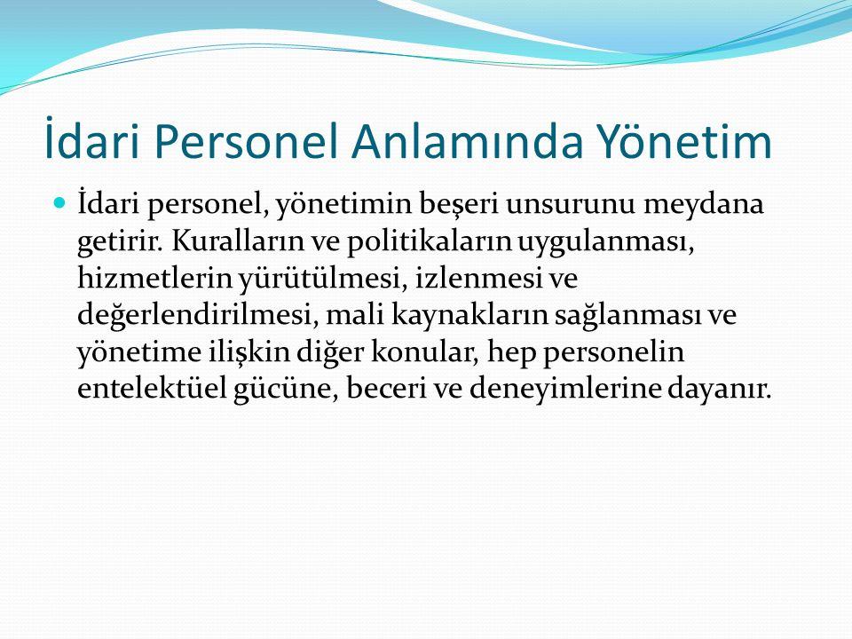 Türk Kamu Yönetiminin Özellikleri II 1980'den sonra başlayan 2000'den sonra hızlanan kamu yönetimi reformları çerçevesinde stratejik plan, performans programı, vizyon, misyon, saydamlık, hesap verebilirlik, katılımcılık, etik, hizmette yerellik, verimlilik ve etkinlik, özelleştirme, halkın memnuniyeti, hizmet standartları gibi kavramlar kamu yönetimi mevzuatına girmiştir.