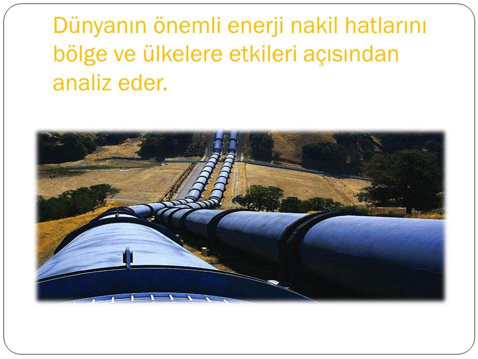 Bakü-Tiflis-Ceyhan boru hattı, Irak-Türkiye petrol boru hattı ve Samsun-Ceyhan boru hattı büyük kapasiteye sahiptir.