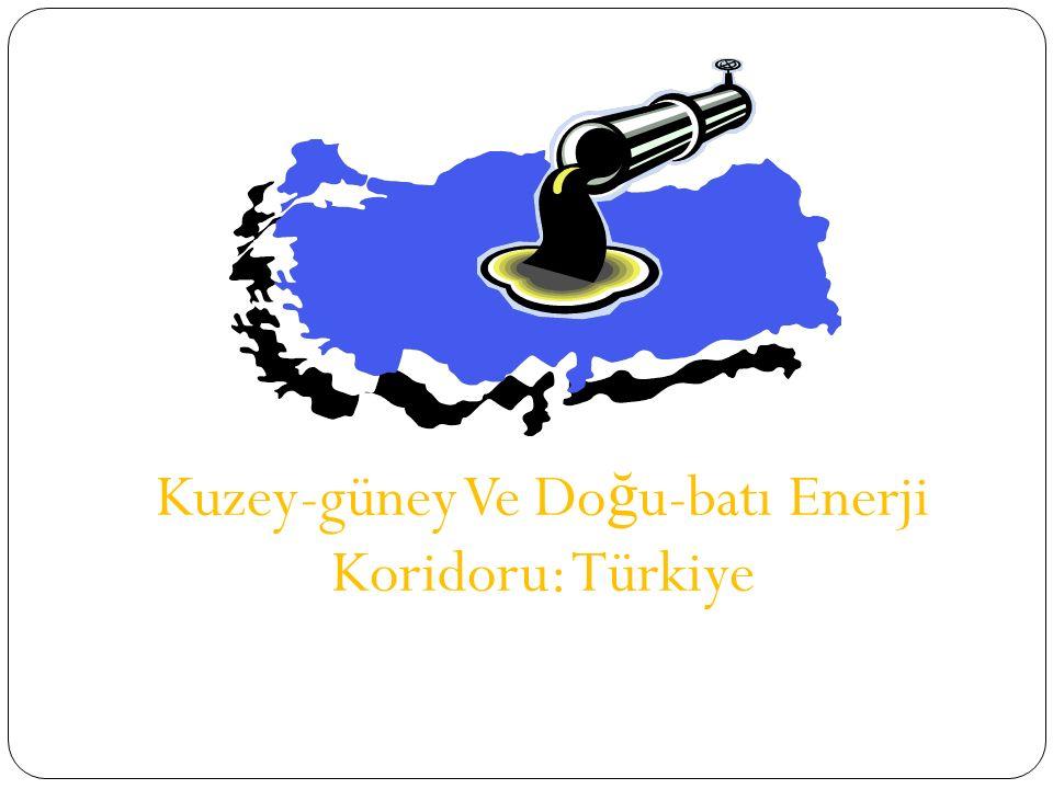 Kuzey-güney Ve Do ğ u-batı Enerji Koridoru: Türkiye