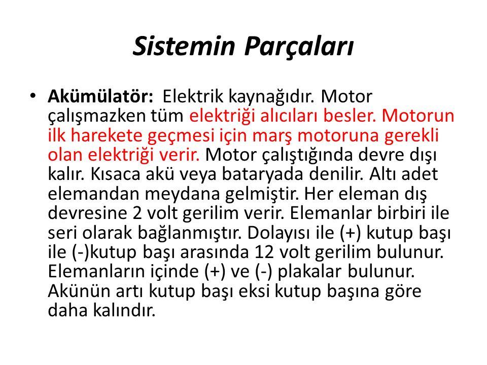 Yağlama Sistemi Motor yağının düzeyi günlük olarak kontrol edilmelidir.